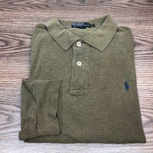 Polo Ralph Lauren Olive Heather Polo Shirt XL